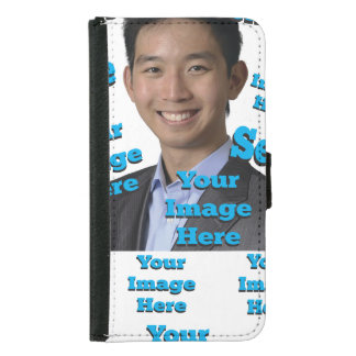 Selfie Image Template Wallet Phone Case For Samsung Galaxy S5