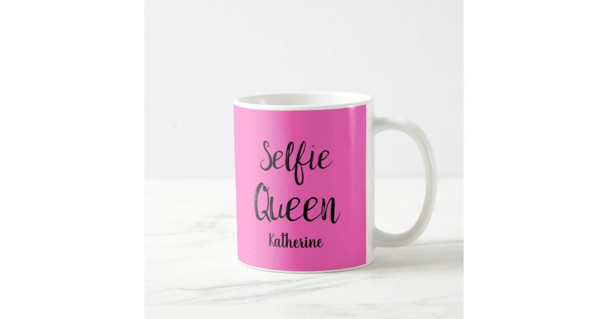 Selfie Queen Name Personalized Fuchsia