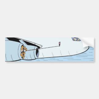 Selfie Stick Cartoon Aviation Bumper Sticker