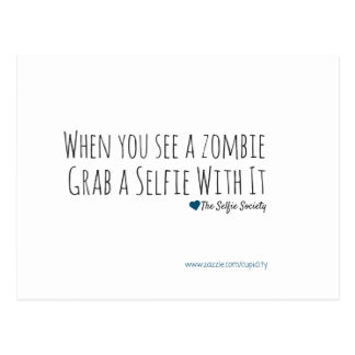 Selfies with Zombies Postcard