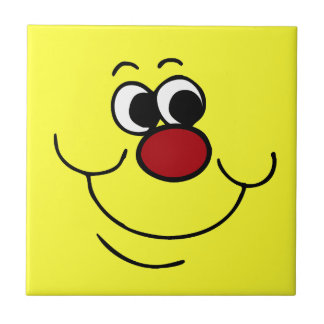 Selfish Smiley Face Grumpey Ceramic Tile