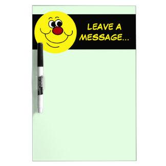 Selfish Smiley Face Grumpey Dry-Erase Board