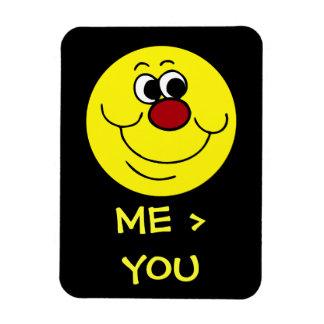 Selfish Smiley Face Grumpey Flexible Magnets