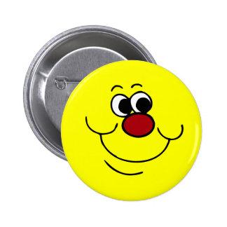 Selfish Smiley Face Grumpey Pinback Button