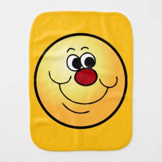 Selfish Smiley Face Grumpey Burp Cloth