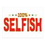 Selfish Star Tag Post Cards