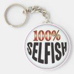 Selfish Tag Key Chain
