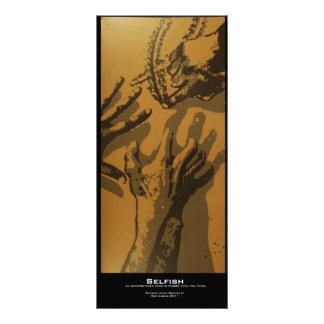 """Selfish"" Value Bookmark Rack Card"