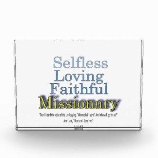 Selfless Loving Faithful Missionary Award