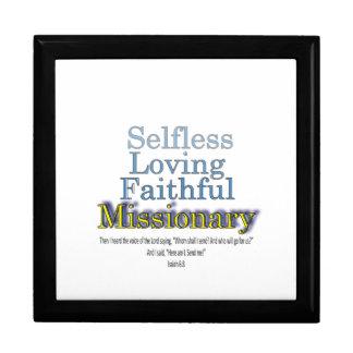 Selfless Loving Faithful Missionary Keepsake Box