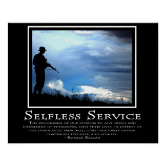 Selfless Service Poster
