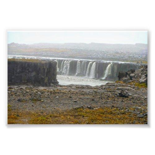 Selfoss, Waterfall,  Jökulsárgljúfur Park, Iceland Photo Print