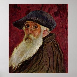 Selfportrait 1898 del autorretrato de Camille Piss Impresiones