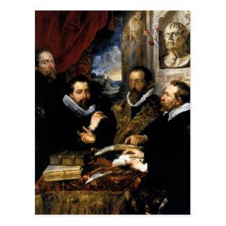 Selfportrait de Peter Rubens- con el hermano Phili Tarjetas Postales