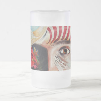 SELFPORTRAIT WITH THE CRITICAL EYE FROSTED GLASS BEER MUG