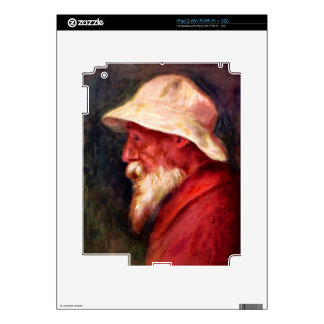 Selfportrait with white hat by Pierre Renoir Skin For iPad 2