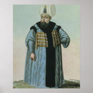 Selim II (1524-74) called 'Sari', the Blonde or th Poster