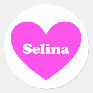 Selina Classic Round Sticker