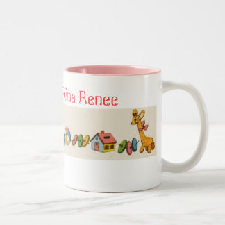 Selina Renee retro toys Two-Tone Coffee Mug