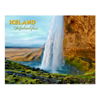 Seljalandsfoss Waterfall in Iceland Postcard