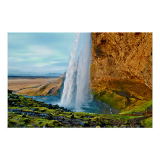 Seljalandsfoss Waterfall in Iceland Poster
