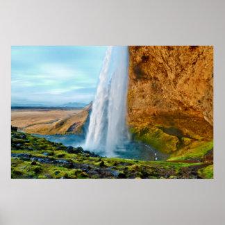 Seljalandsfoss Waterfall in Iceland Poster