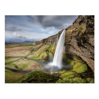 Seljalandsfoss Waterfall of Iceland Postcard