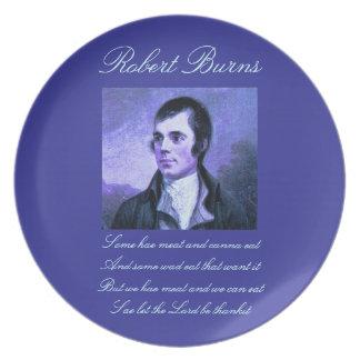 Selkirk Grace Robert Burns Plate
