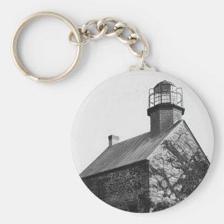 Selkirk Lighthouse Basic Round Button Keychain