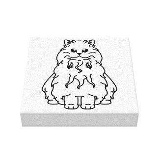 Selkirk Rex Cat Cartoon Canvas Prints