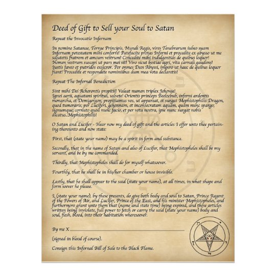 Sell your Soul to Satan! Flyer