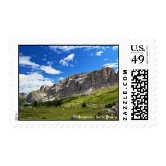 Sella mount and high Gardena valley Stamp