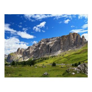 Sella mount and high Gardena valley Postcard