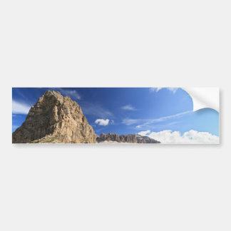 Sella mountain and Pordoi pass Bumper Sticker