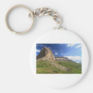 Sella mountain and Pordoi pass Keychain