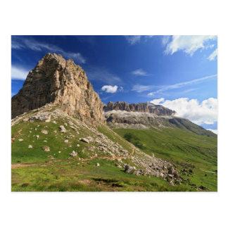 Sella mountain and Pordoi pass Postcard