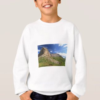 Sella mountain and Pordoi pass Sweatshirt