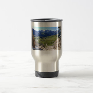 Sella pass from Sassolungo mount 15 Oz Stainless Steel Travel Mug