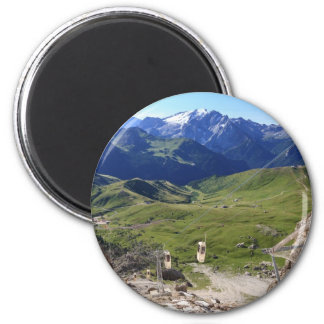 Sella pass from Sassolungo mount 2 Inch Round Magnet