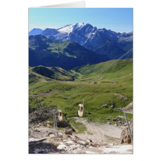 Sella pass from Sassolungo mount Greeting Card