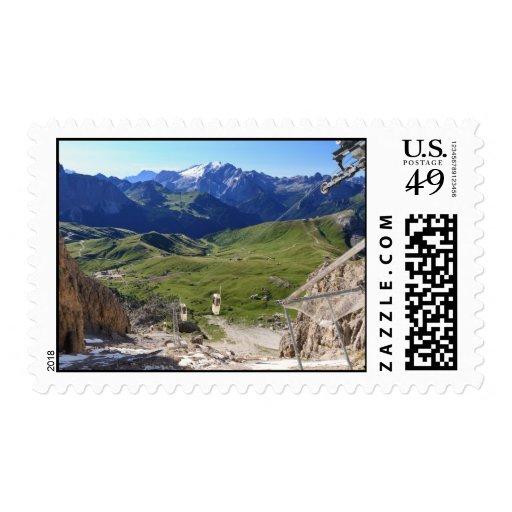 Sella pass from Sassolungo mount Postage