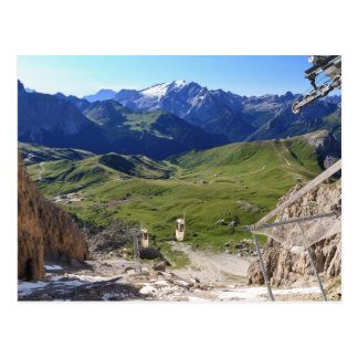 Sella pass from Sassolungo mount Postcard