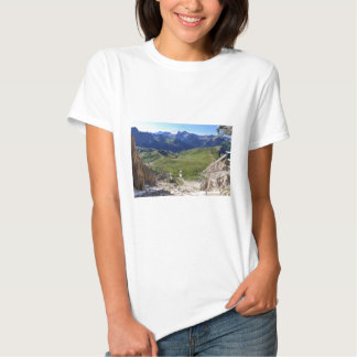 Sella pass from Sassolungo mount Tee Shirt