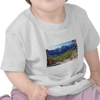 Sella pass from Sassolungo mount T-shirts