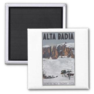 Sella Ronda - Alta Badia 2 Inch Square Magnet