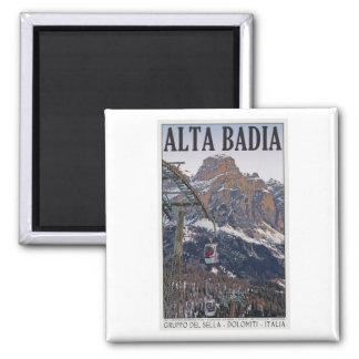 Sella Ronda - Alta Badia Gondola 2 Inch Square Magnet