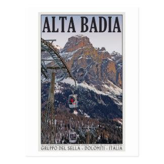 Sella Ronda - Alta Badia Gondola Postcard
