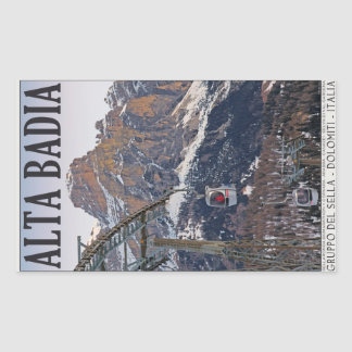 Sella Ronda - Alta Badia Gondola Rectangular Sticker