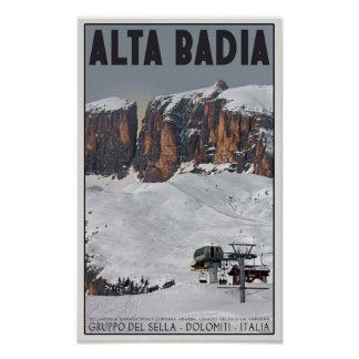Sella Ronda - Alta Badia Poster