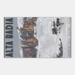 Sella Ronda - Alta Badia Rectangular Sticker